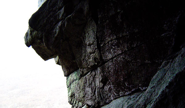 Wet, cold and hard granite